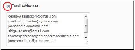 danh sách email của bạn